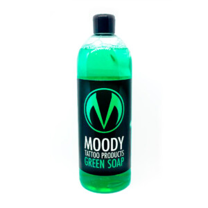 moody green soap
